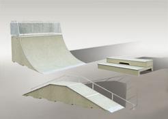 Цементови скейт рампи